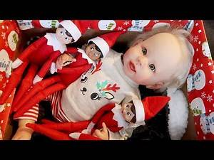 Elf on the Shelf Brings Me Early Christmas Presents! Fun with Reborns!
