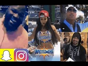 WWE WrestleMania DAY! Ft, Roman Reigns, The Rock, Mark Henry, Nikki Bella n MORE