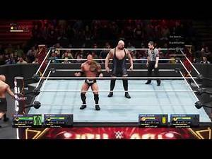 WWE 2K20 - Big Show & The Rock vs. Brock Lesner & Roman Reigns (Online Match USPS4)