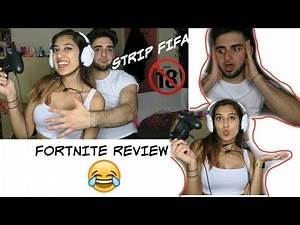 FORTNITE REVIEW || STRIP FIFA WITH MY GF || GAME NIGHT