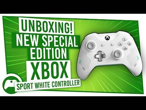 Unboxing! NEW Special Edition Xbox Sport White Controller!