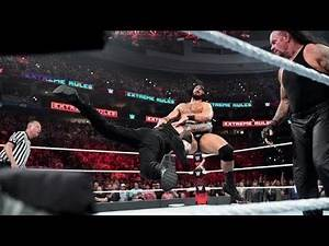 Extreme Rules 2019 - Roman Reigns & Undertaker vs Drew Mcintyre & Shane McMahon Full Highlights