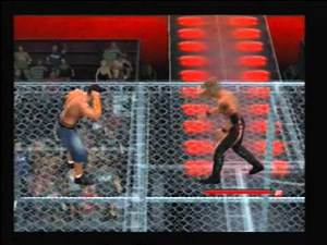 SvR 2011 (PS2) : Edge vs John Cena - Hell in a Cell match - WWE Championship (2/2)