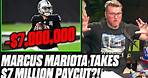 Pat McAfee Reacts To Marcus Mariota's $7 Million Paycut To Stay With The Raiders