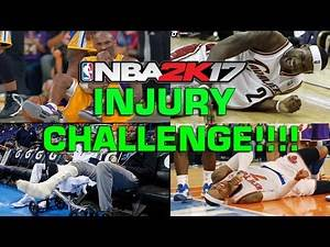 NBA 2K17 INJURY CHALLENGE!!! | Can The Whole Team Get Injured?!?!?!
