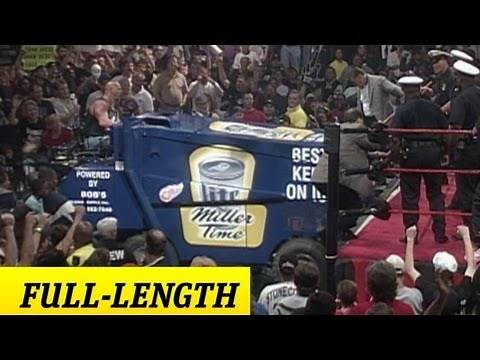 """""""Stone Cold' drives a zamboni to the ring"""