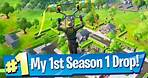 My First Chapter 2 Season 1 Drop - Fortnite Battle Royale