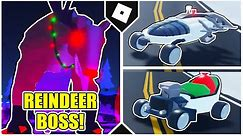 How to DEFEAT the REINDEER BOSS EASILY get the SHREDDER and SLEIGHER in MAD CITY! [ROBLOX]