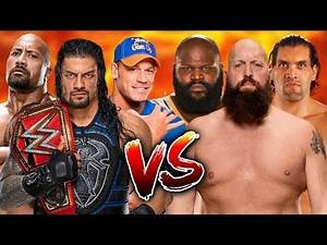 Roman Reigns & The Rock & John Cena vs. Big Show & The Great Khali & Mark Henry - RAW 2018