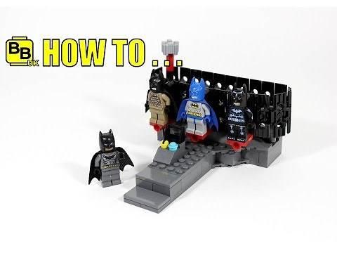HOW TO MAKE A LEGO BATMAN MOVIE MINIFIGURE SUIT RACK