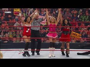 Divas Champion Melina, Kelly Kelly, & Gail Kim vs.