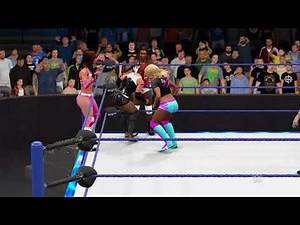 WWE 2K17 SmackDown 6 Women's Tag Team Match