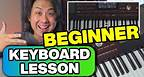 Your 1st Beginner Keyboard Piano Lesson - Getting Started