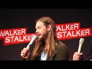 WSC Mannheim 2018 - Tom Payne about possible relationships for Jesus, his hair & favourite TV shows