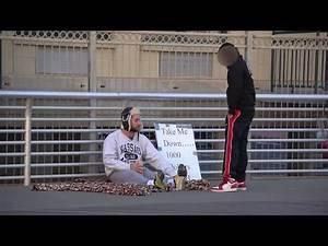 Homeless Wrestler Body Slams Guy on Beach