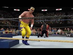 Sting vs Bam Bam Bigelow No DQ Match - WCW Great American Bash 1991 (WWE 2K16 Universe)