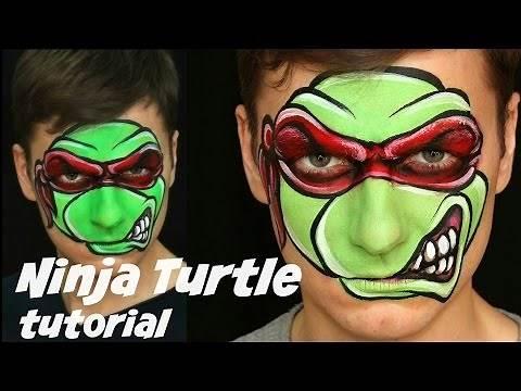 Teenage Mutant Ninja Turtle (TMNT) — Face Painting & Makeup for Kids