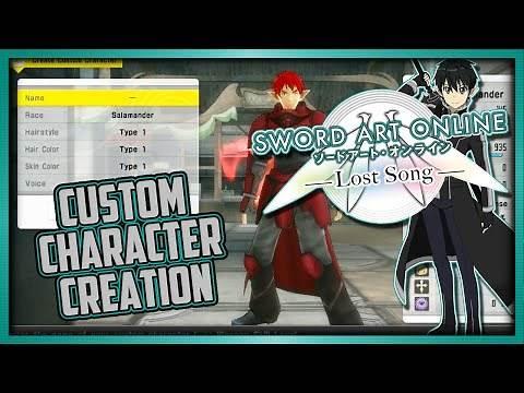 Custom Character Creation | Sword Art Online: Lost Song (PS Vita/PS4)