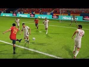 España vs Iran | Copa Mundial Rusia 2018 de FIFA, Fase de Grupos | FIFA Simulacion