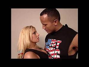 Unseen Rock kissing trish stratus   Raw    the rock