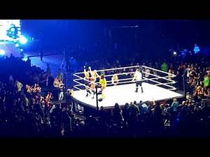 WWE Smackdown Nottingham 9/11/17 - Womens Match 4 on 3 video clips