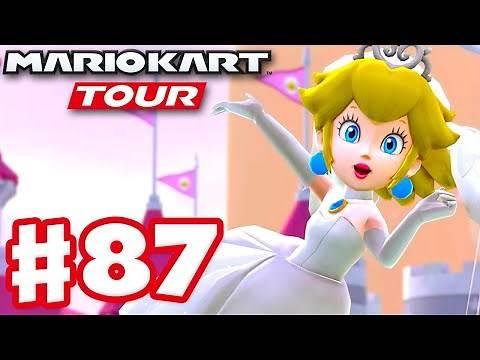 Peach Tour! Wedding Peach! New Course! - Mario Kart Tour - Gameplay Part 87 (iOS)