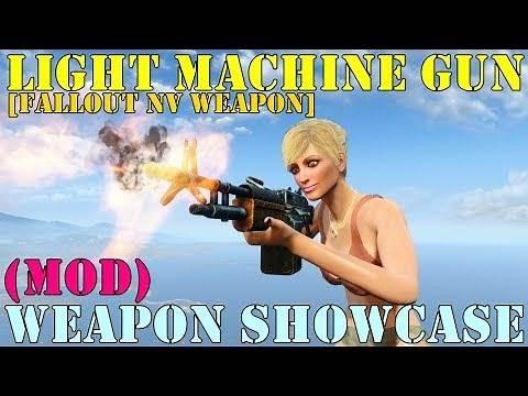 Fallout 4: Weapon Showcases: Light Machine Gun (Mod)