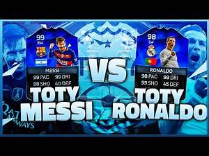 FIFA 16 TOTY BATTLE - TOTY MESSI REVIEW vs TOTY RONALDO REVIEW / BEST PLAYER IN ULTIMATE TEAM