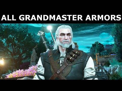 The Witcher 3 Blood and Wine - All Grandmaster Armor Sets Showcase & Stats