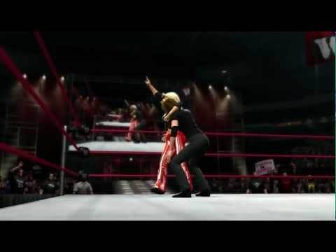 Trish Stratus hits her finisher in WWE 13 (Official)
