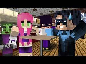 Nightwing and Starfire Go out on a Date! (Minecraft Roleplay) | Nightwing Plays Minecraft