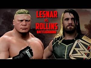 WWE Battleground Brock Lesnar vs Seth Rollins WWE World Heavyweight Championship