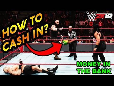 How to Cash in Money In The Bank Briefcase in WWE 2K19