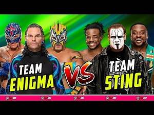 Jeff Hardy & Kalisto & Rey Mysterio vs. Sting & The New Day - WWE Wrestlemania Main Event