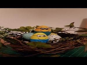easiest way to make minion with Easter eggs | Funny minions