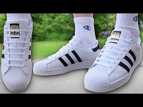 How To BAR LACE Adidas Superstar (THE BEST WAY!!)