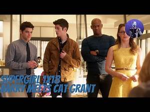 Supergirl 1x18 - Barry meets Cat Grant