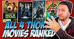 All 4 Thor Movies Ranked Worst to Best (w/ Thor: Ragnarok & The Incredible Hulk Returns Review)