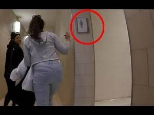 CHANGING BATHROOM SIGNS FUNNY PRANK GONE TOO FAR