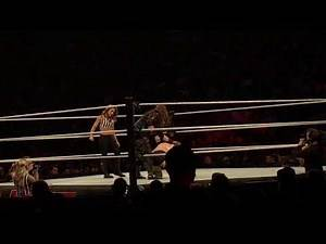 """""""Rowdy"""" Ronda Rousey vs Nia Jax, Mickie James special guest referee WWE Live, July 7, 2018"""