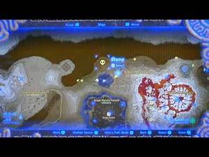 BotW#182b - Map Of Journey To Skull Lake, Gut Check Rock, Thyphlo Ruins