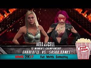 SASHA BANKS vs CHARLOTTE  Hell In A Cell  WWE 2K17 Full Match Gameplay
