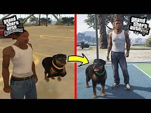 GTA - HOW DOGS Have CHANGED in GTA Games (Evolution of dogs)