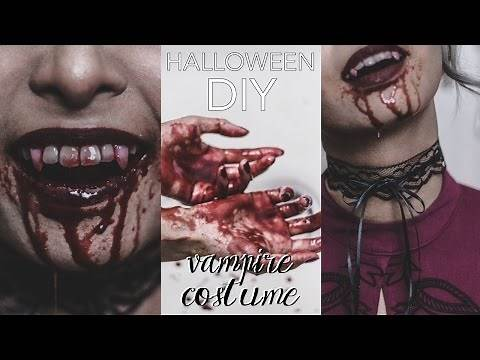 DIY Halloween Costume 2016: Victorian Vampire (Make Your Own Fangs, Edible Blood & Lace Choker)