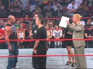 Jarrett and Angle Sign The Contract And Make The Stipulations