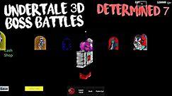 Roblox Undertale 3D Boss Battles: Beating Determined 7