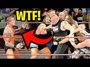 10 Moments WWE Wrestlers LOST CONTROL ON LIVE TV!