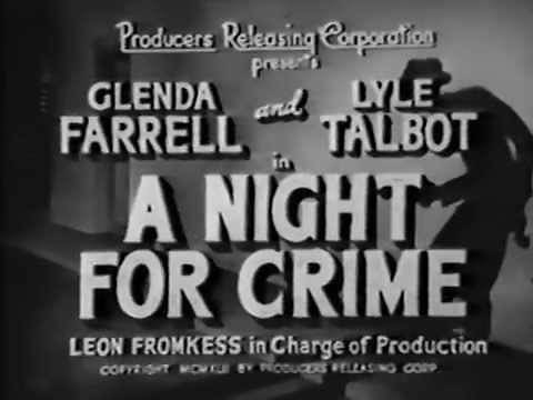 Night for Crime (1943 crime drama / full length suspense movie)