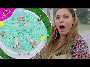 Kelly Brook hot, sexy of Three (Survival Island) Cooking in kitchen which goes on Ugly & HORRIBLE