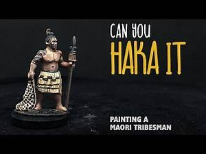 Can you haka it: Painting a Maori tribesman